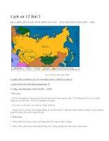 Lịch sử 12 Bài 2