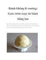 Bánh không lò nướng: Gato tròn xoay từ bánh bông lan ppt