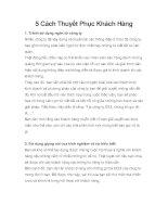 5 Cách Thuyết Phục Khách Hàng docx