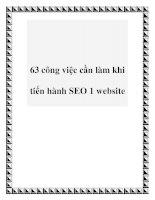 63 công việc cần làm khi tiến hành SEO 1 website doc