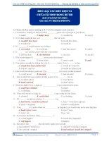Bốn loại câu hỏi điều kiện và chữa câu hỏi trong đề thi (đáp án bài tập tự luyện) ppt