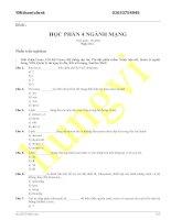 ĐỀ THI HỌC PHẦN 4 NGÀNH MẠNG (có đáp án) - ĐỀ SỐ 8 pdf
