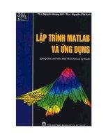 Lập trình Matlab và ứng dụng ppt