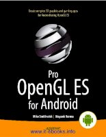 Pro OpenGL ES for Android potx