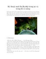 Kỹ thuật nuôi Ba Ba thịt trong ao và trong bể xi măng potx