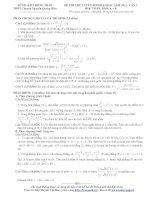 Tổng hợp đề thi thử ĐH môn Toán các khối Đề 64 ppt