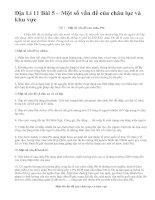 Địa Lí 11 Bài 5 – Một số vấn đề của châu lục và khu vực
