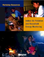 Workshop Resources: Indoor Air Pollution and Household Energy Monitoring ppt