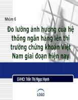 Đề tài: Đo lường ảnh hưởng của hệ thống ngân hàng lên thị trường chứng khoán Việt Nam giai đoạn hiện nay ppt
