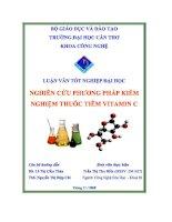 nghiên cứu phương pháp kiểm nghiệm thuốc tiêm vitamin c