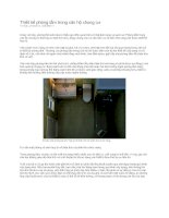 Thiết kế phòng tắm trong căn hộ chung cư. pot