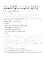 Địa Lí 12 Bài 33 – Vấn đề chuyển dịch cơ cấu kinh tế theo ngành ở Đồng bằng sông Hồng