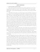 Khai thác giá trị lịch sử, văn hoá các di tích thờ tướng quân nhà Trần ở huyện Thuỷ Nguyên – Hải Phòng phục vụ cho du lịch