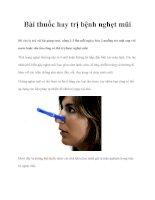 Bài thuốc hay trị bệnh nghẹt mũi doc
