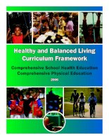 Healthy and Balanced Living Curriculum Framework - Comprehensive School Health Education Comprehensive Physical Education pptx