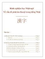 phát âm kanji trong tiếng nhật
