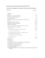 Indian Accounting Standard (Ind-AS) 101 First-time Adoption of Indian Accounting Standards docx