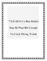 7 Lỗi SEO Cơ Bản Khiến Bạn Bị Phạt Bởi Google Và Cách Phòng Tránh ppt