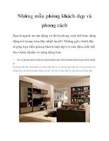 Những mẫu phòng khách đẹp và phong cách pptx