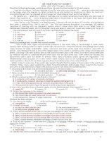 50 Đề luyện thi tốt nghiệp môn tiếng Anh lớp 12 ppt