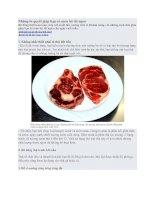 Những bí quyết giúp bạn có món bít tết ngon doc