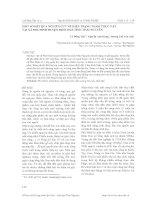 MỘT SỐ KẾT QUẢ NGHIÊN CỨU VỀ HIỆN TRẠNG THẢM THỰC VẬT TẠI XÃ PHÚ ĐÌNH HUYỆN ĐỊNH HOÁ TỈNH THÁI NGUYÊN doc