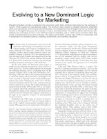 Evolving to a New Dominant Logic for Marketing pdf