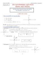 bài tập hình học giải tích phẳng