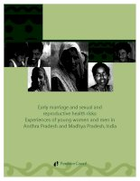 Early marriage and sexual and reproductive health risks: Experiences of young women and men in Andhra Pradesh and Madhya Pradesh, India potx