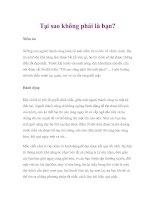 Tại sao không phải là bạn? pdf