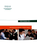 MBA Graduates 2011: 2011 Employment Statistics. A World of Talent. doc