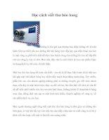 Học cách viết thư bán hàng pot