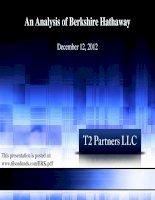 An Analysis of Berkshire Hathaway 2012 pptx