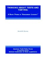 THINKING ABOUT TESTS AND TESTING pdf