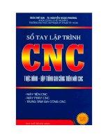 Sổ tay lập trình CNC thực hành lập trình gia công máy trên CNC potx