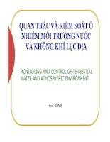 Quan trắc và kiểm soát ô nhiễm môi trường nước doc