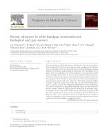 recent advances in wide bandgap semiconductor biological and gas sensors
