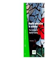 Health education in schools - The challenge of teacher training pdf