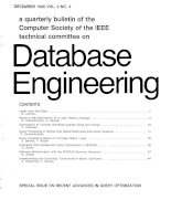 A quarterly bulletin of the IEEE computer society technical committee on Database engineering (VOL. 9) pptx