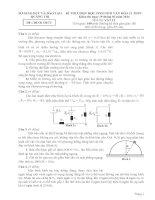 đề và đáp án kỳ thi HSG vật lý quảng trị  2013 2014