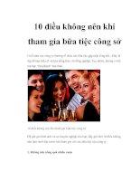 10 điều không nên khi tham gia bữa tiệc công sở pptx
