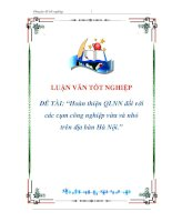 luận văn:Hoàn thiện QLNN đối với các cụm công nghiệp vừa và nhỏ trên địa bàn Hà Nội doc