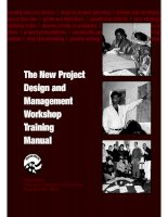 The New Project Design and Management Workshop Training Manual pot