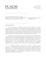 REPORT ON OBSERVATIONS OF PCAOB INSPECTORS RELATED TO AUDIT RISK AREAS AFFECTED BY THE ECONOMIC CRISIS pot