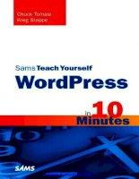 Sams Teach Yourself WordPress in 10 Minutes pot
