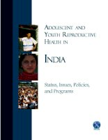Adolescent Reproductive Health in India: Status, Policies, Programs, and Issues potx
