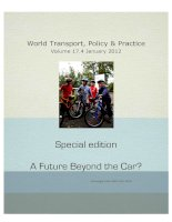 World Transport, Policy & Practice Volume 17.4 January 2012: A Future Beyond the Car? potx