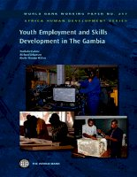 youth employment and skills development in the gambia ppt