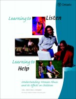 Learning to Listen Learning to Help Understanding Woman Abuse and its Effects on Children docx
