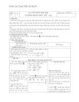 giáo án môn toán lớp 9 chương 1 - bài 2 căn thức bậc hai và hằng đẳng thức
